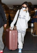 Madison Beer makes a low-key arrival from New York to LAX with Nick Austin, Los Angeles