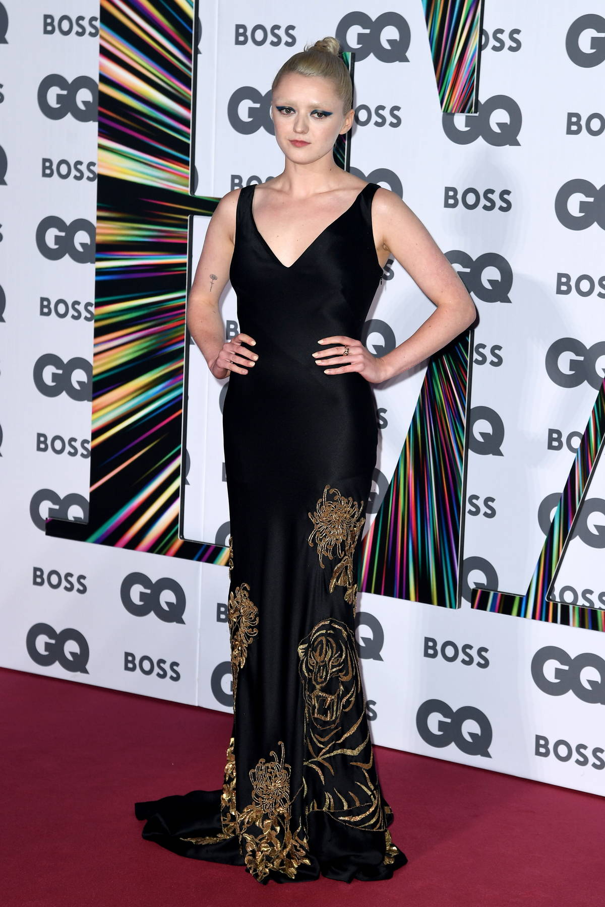 Maisie Williams attends the GQ Men Of The Year Awards 2021 at the Tate Modern in London, UK