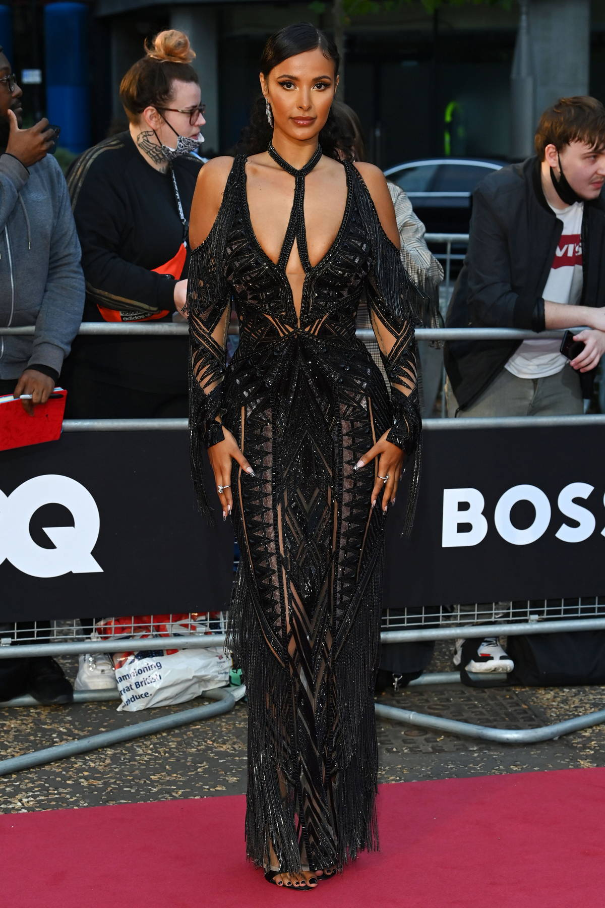 Maya Jama attends the GQ Men Of The Year Awards 2021 at the Tate Modern in London, UK