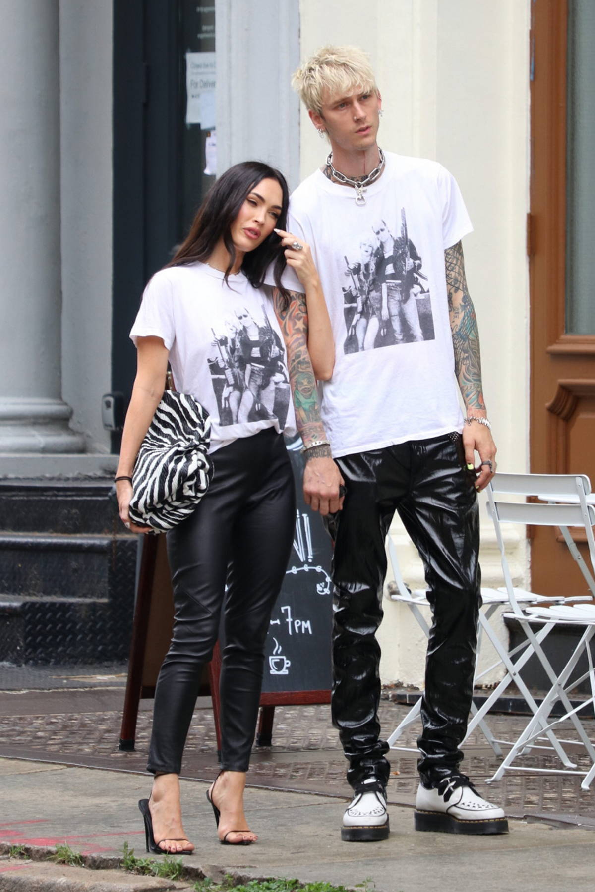 Megan Fox and Machine Gun Kelly step out wearing matching outfits in New York City