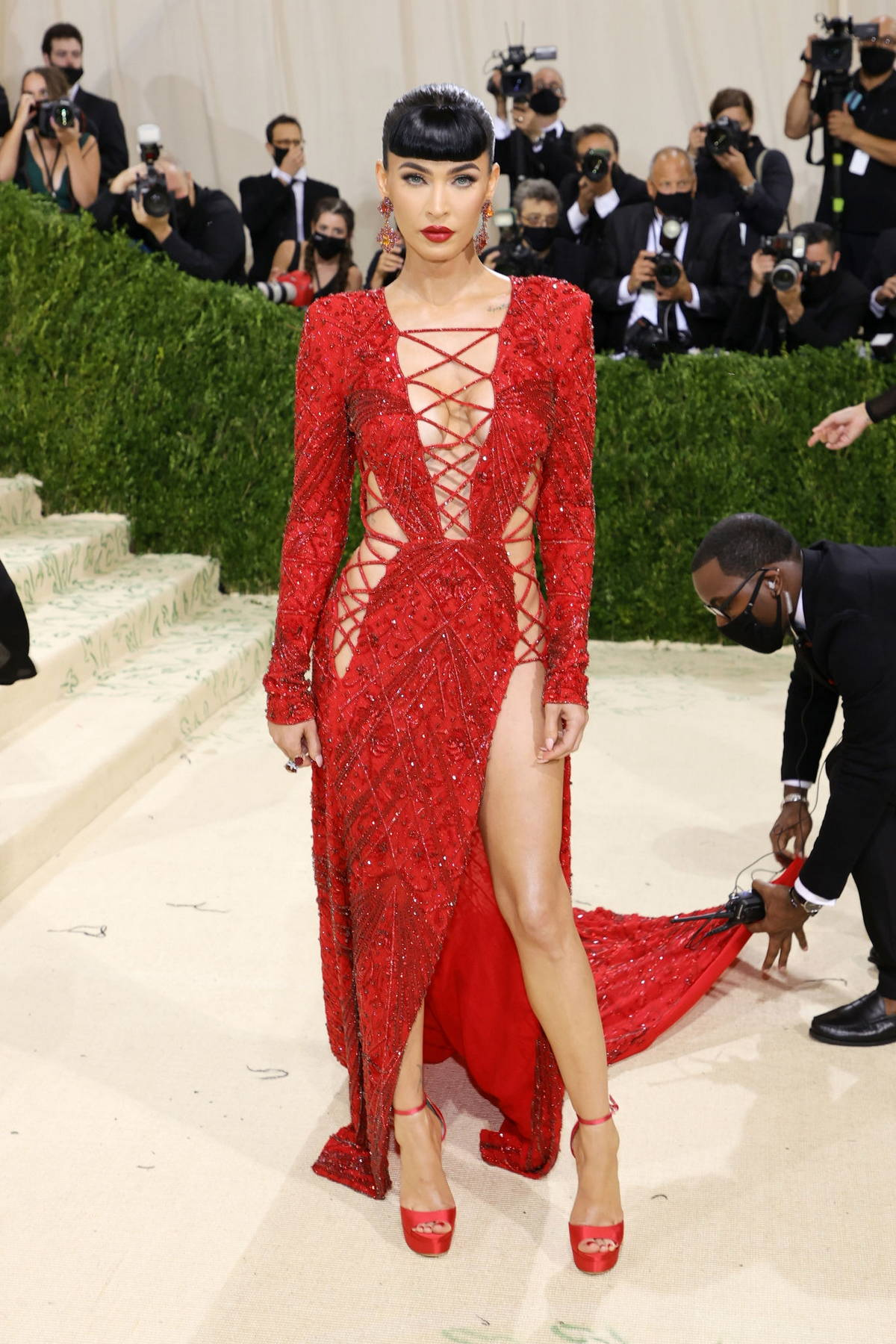 Megan Fox attends The Met Gala Celebrating In America: A Lexicon Of Fashion at Metropolitan Museum of Art in New York City