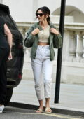 Michelle Keegan and Mark Wright seen leaving the Corinthian hotel ahead of a shopping trip in London, UK