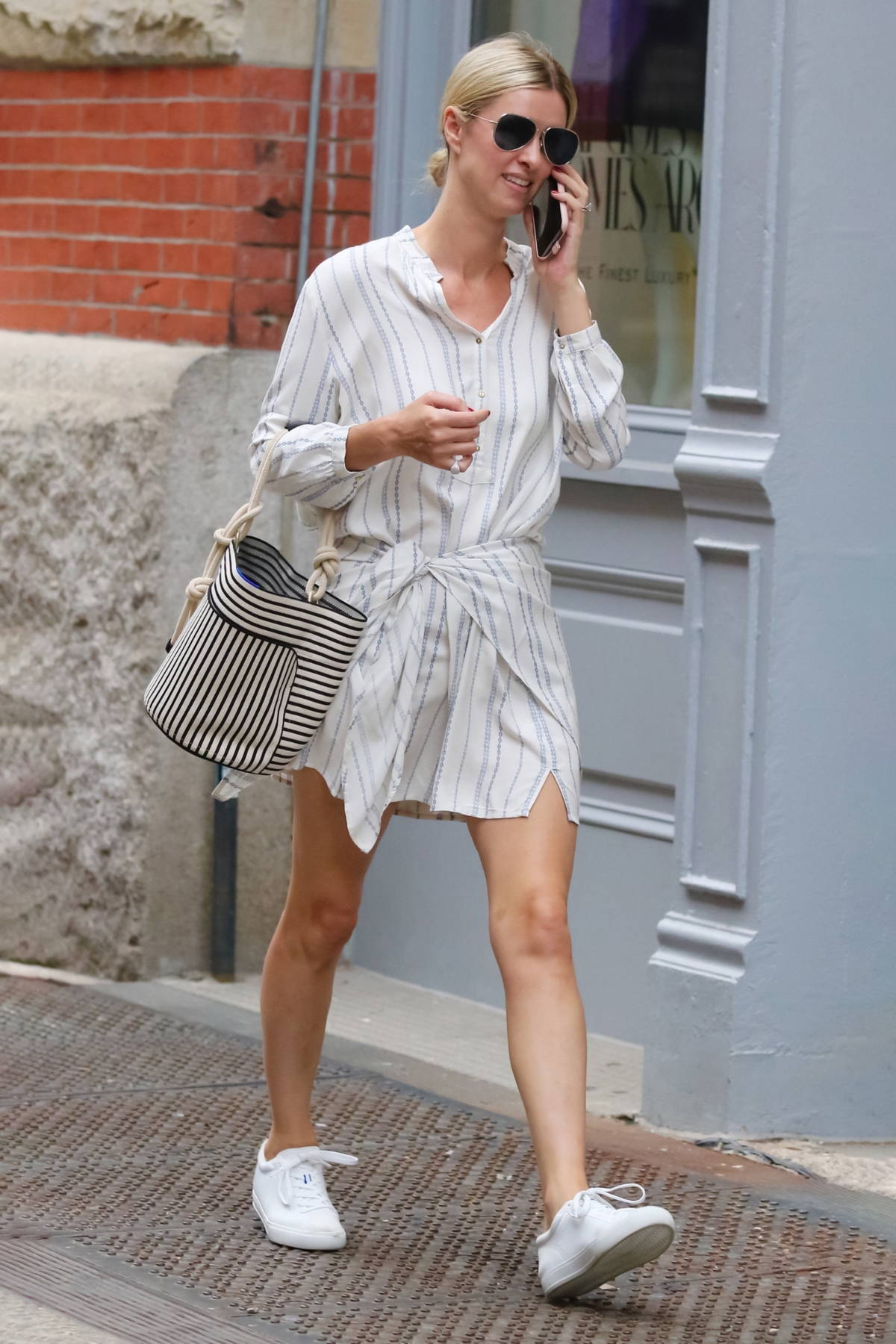 Nicky Hilton looks stylish in all white while out running errands in SoHo, New York City