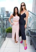 Nina Agdal and Lea Michele attend Cinq à Sept Spring-Summer 2022 show during New York Fashion Week in New York City