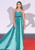 Olivia Culpo attends the Premiere of 'America Latina' during the 78th Venice International Film Festival in Venice, Italy