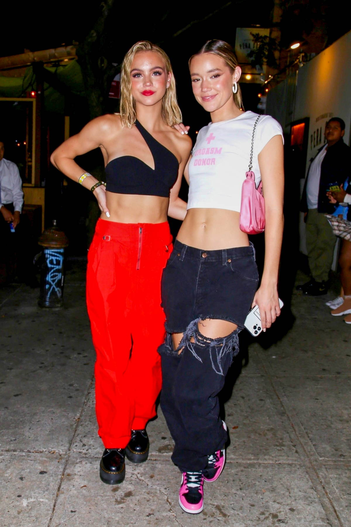 Olivia Ponton and Emma Brooks attend Kid Cudi's NYFW party in New York City