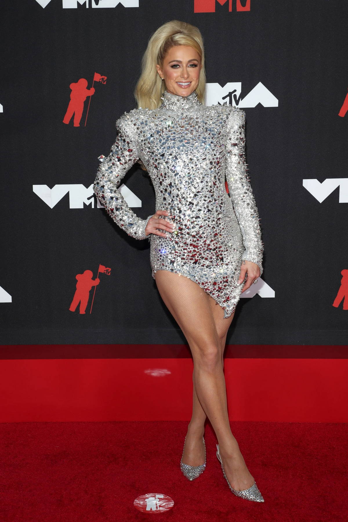 Paris Hilton attends the 2021 MTV Video Music Awards at Barclays Center in Brooklyn, New York City