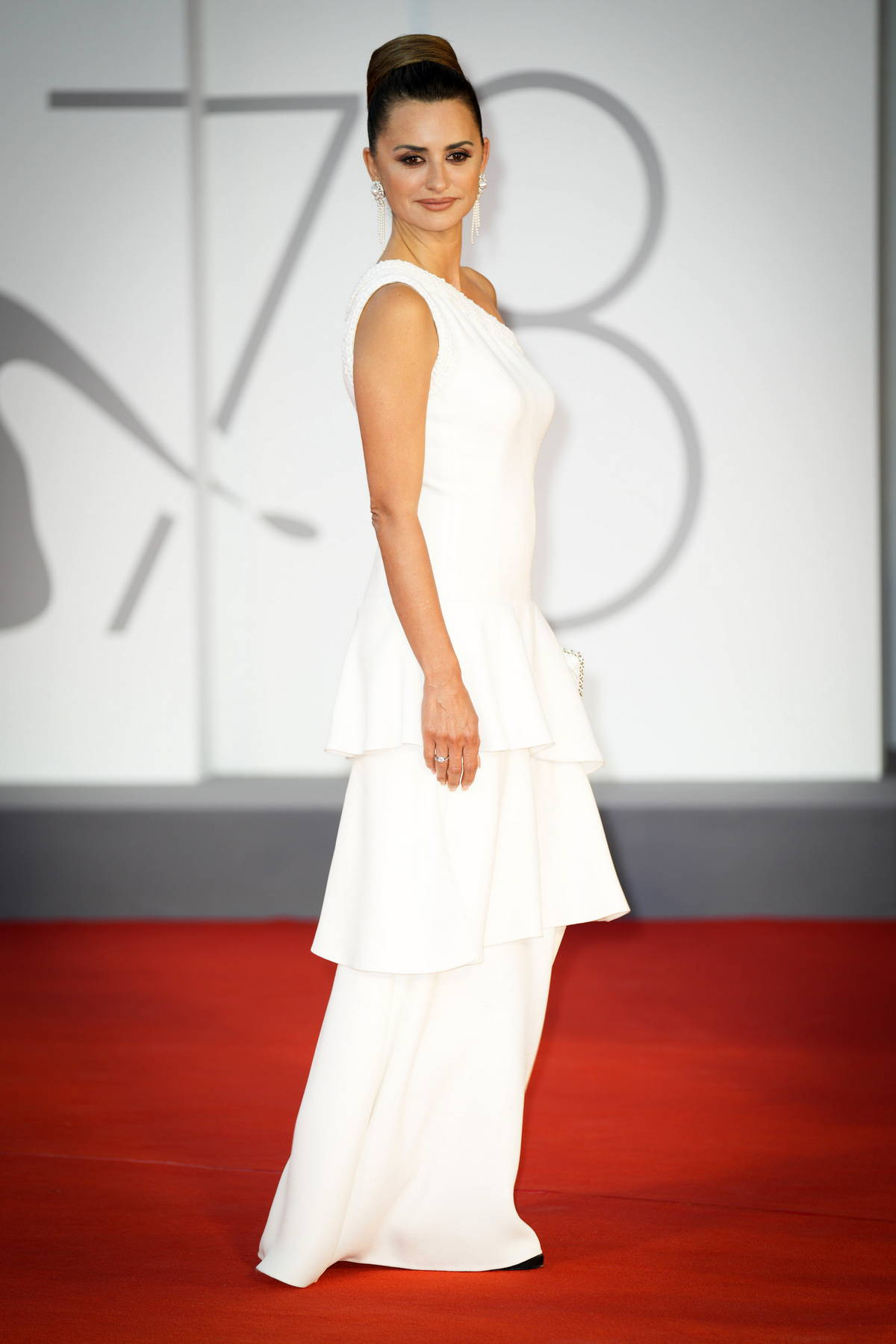 Penelope Cruz attends the Premiere of 'Competencia Oficial' during the 78th Venice International Film Festival in Venice, Italy