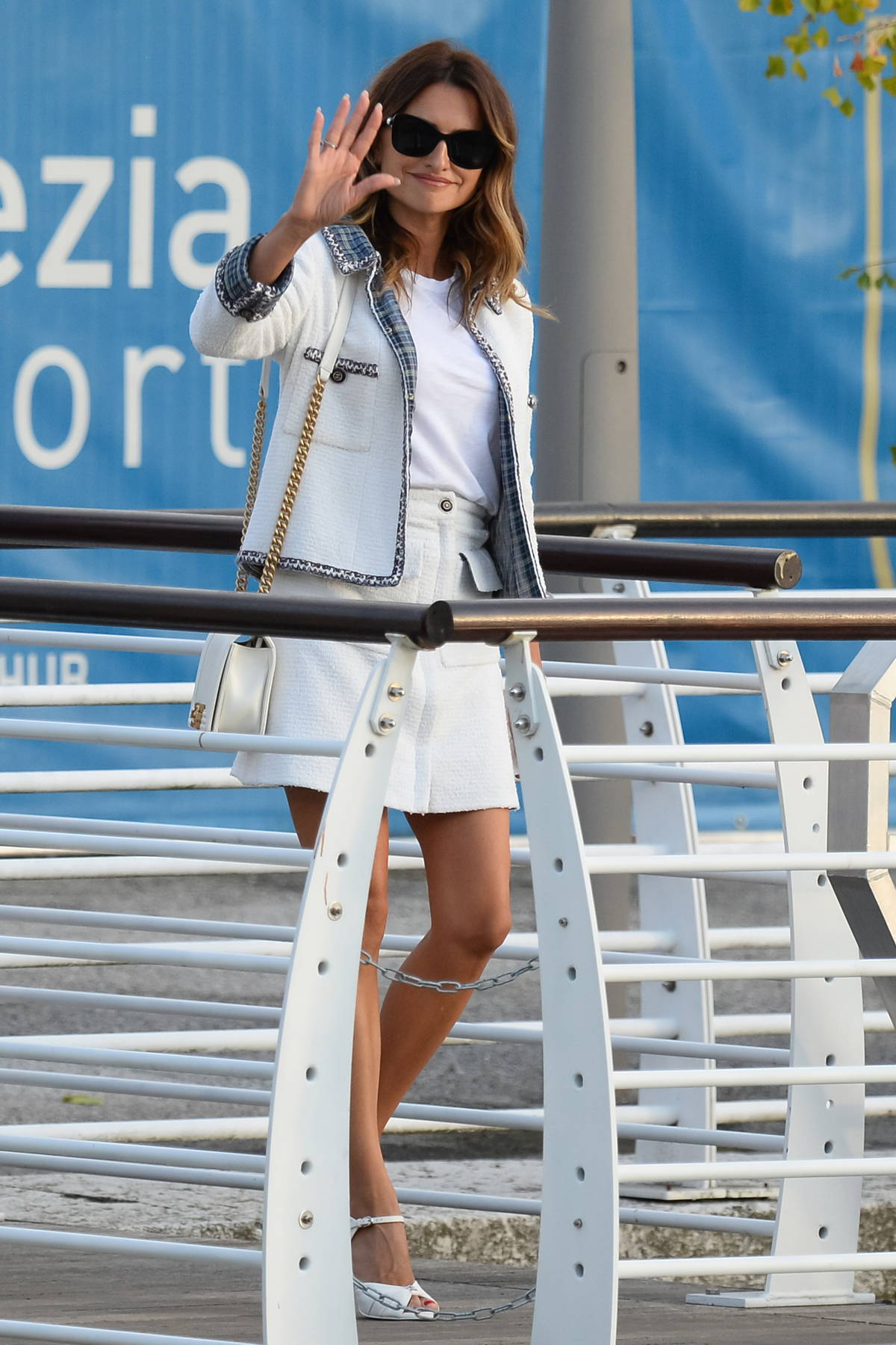 Penelope Cruz looks chic in all-white ensemble as she touches down in Venice, Italy