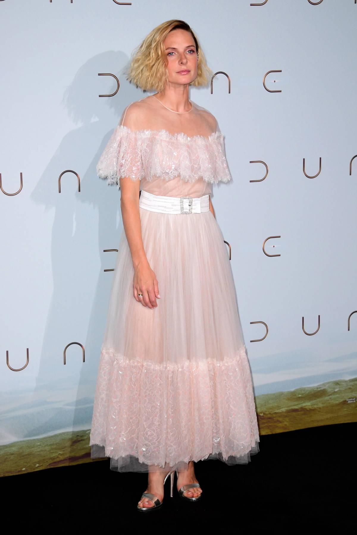 Rebecca Ferguson attends the Premiere of 'Dune' at Le Grand Rex in Paris, France