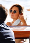 Rebecca Ferguson rocks a new short hairstyle as she's spotted with her husband Rory in Venice, Italy