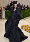 Rihanna attends The Met Gala Celebrating In America: A Lexicon Of Fashion at Metropolitan Museum of Art in New York City