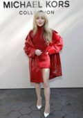 Sabrina Carpenter attends the Michael Kors SP22 fashion show during New York Fashion Week in New York City