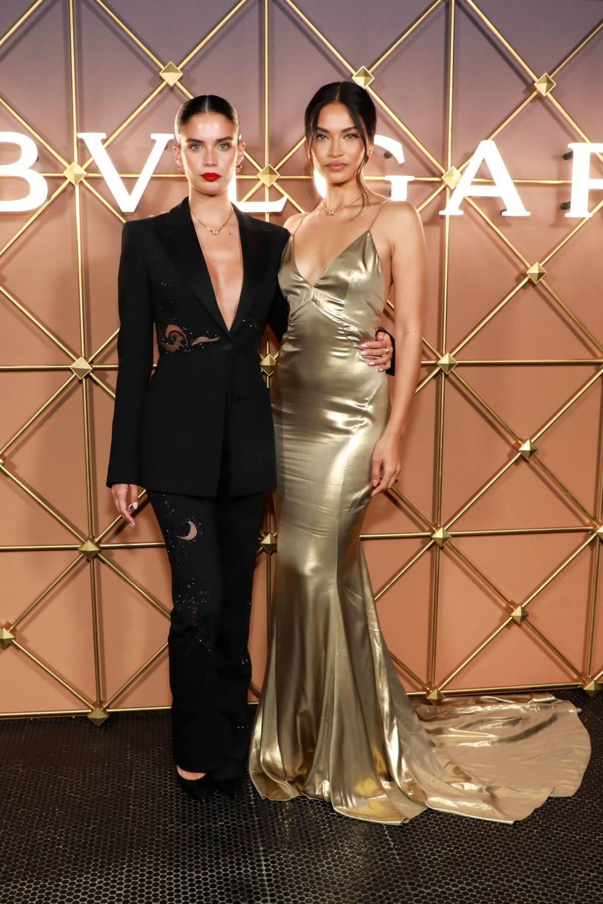 Sara Sampaio and Shanina Shaik attend the BVLGARI x B.zero1 Party in New York City