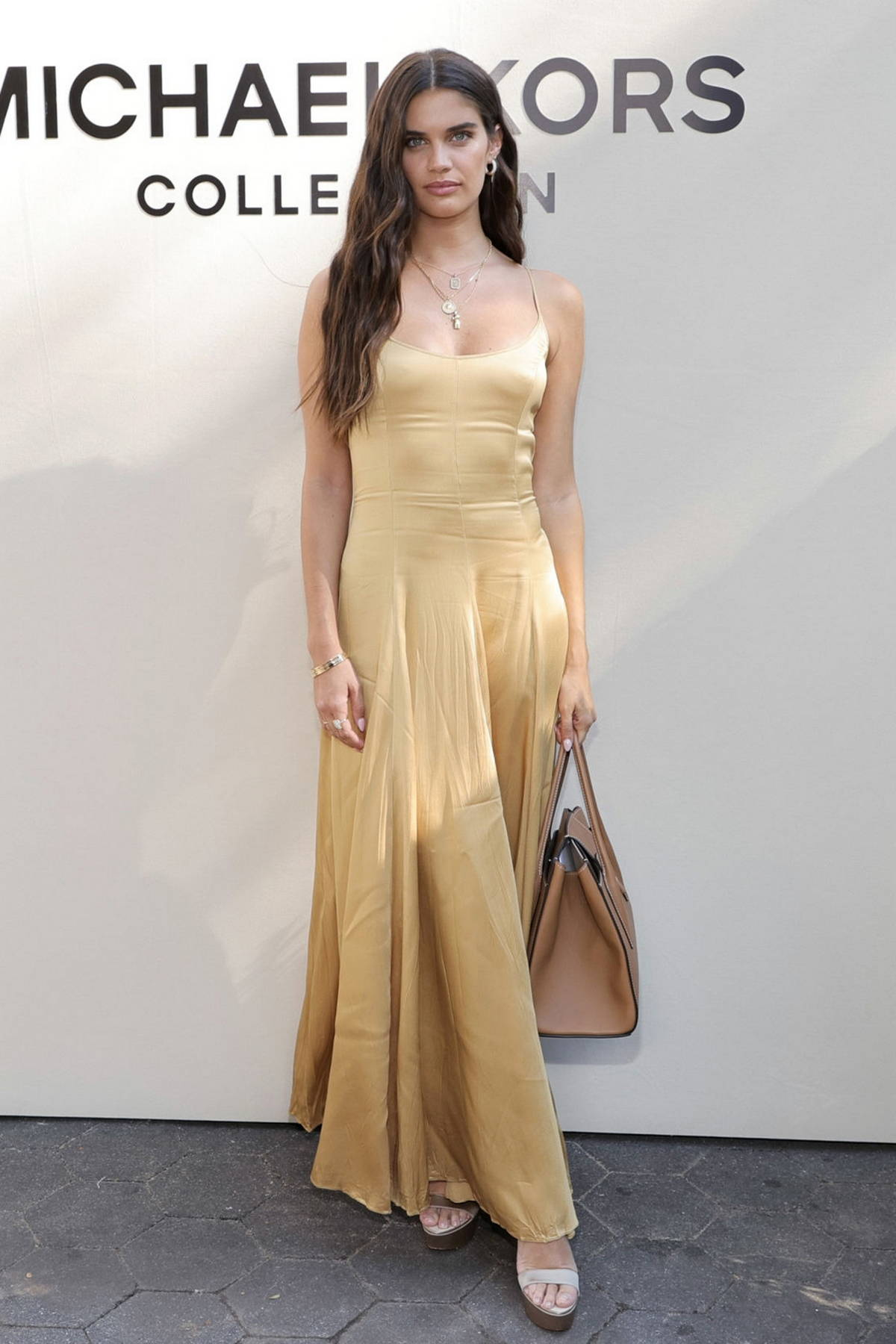 Sara Sampaio attends the Michael Kors SP22 fashion show during New York Fashion Week in New York City