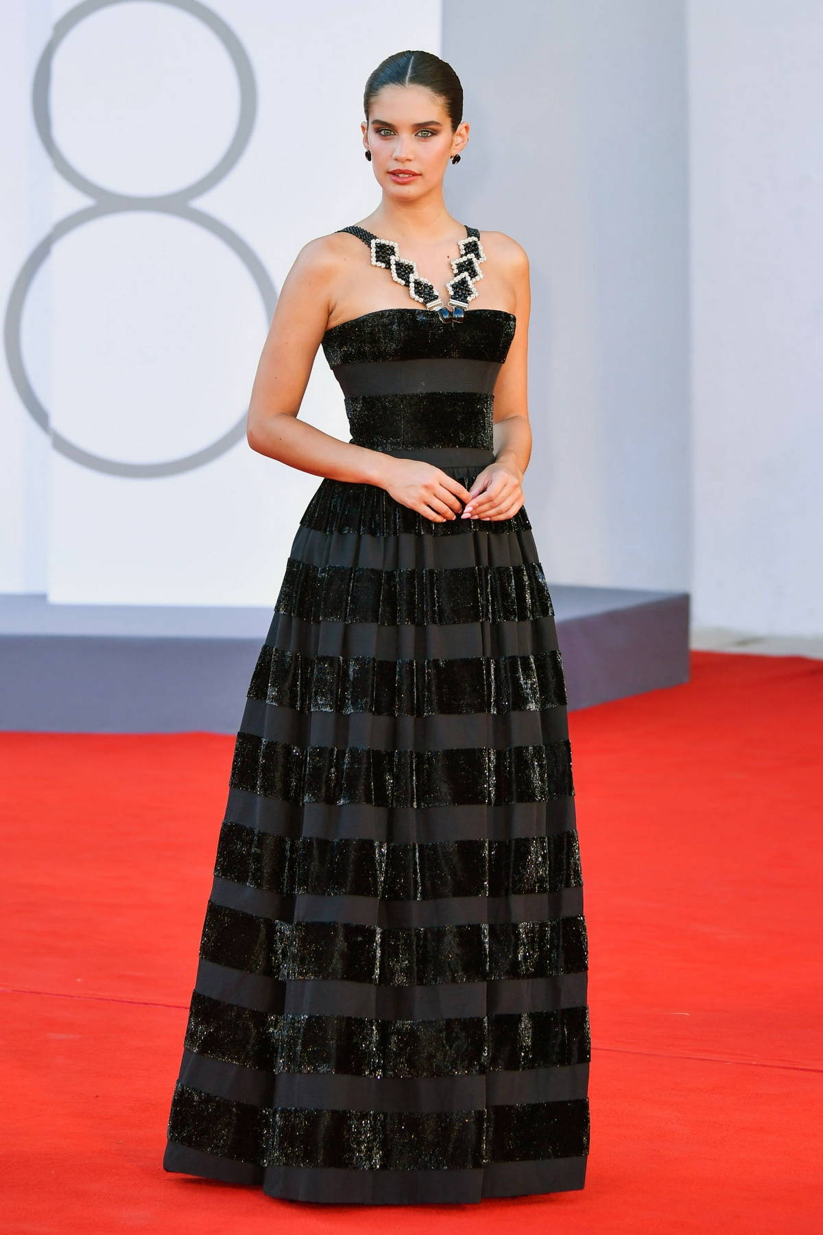 Sara Sampaio attends the Premiere of 'Madres Paralelas' during the 78th Venice International Film Festival in Venice, Italy