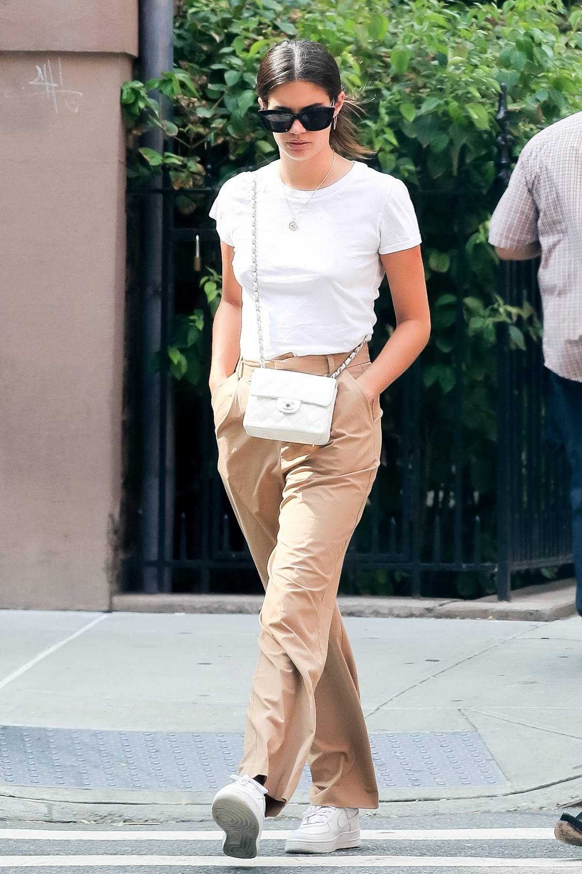 Sara Sampaio keeps it casual for a morning stroll in SoHo, New York City