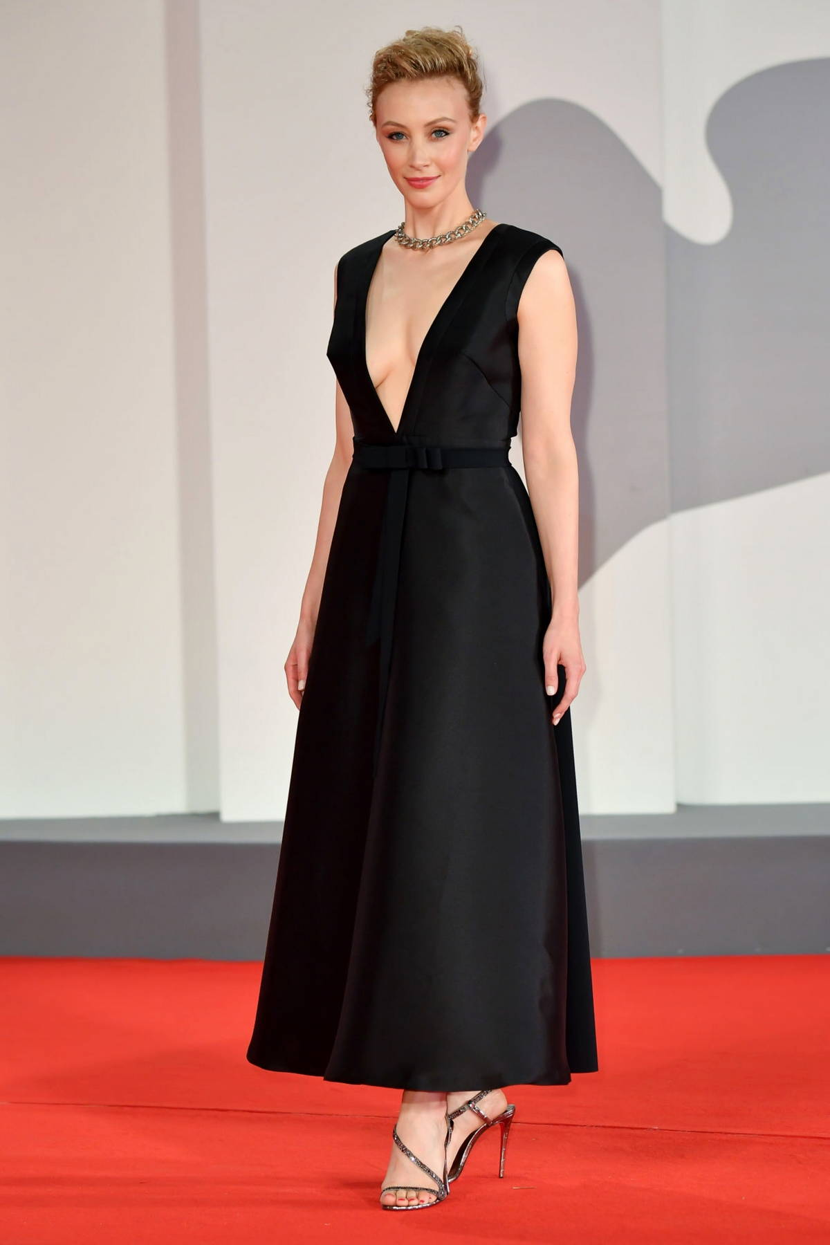 Sarah Gadon attends the Premiere of 'Mona Lisa And The Blood Moon' during the 78th Venice International Film Festival in Venice, Italy
