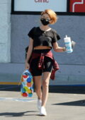 Sarah Hyland stays cool as she leaves CVS pharmacy in Los Angeles
