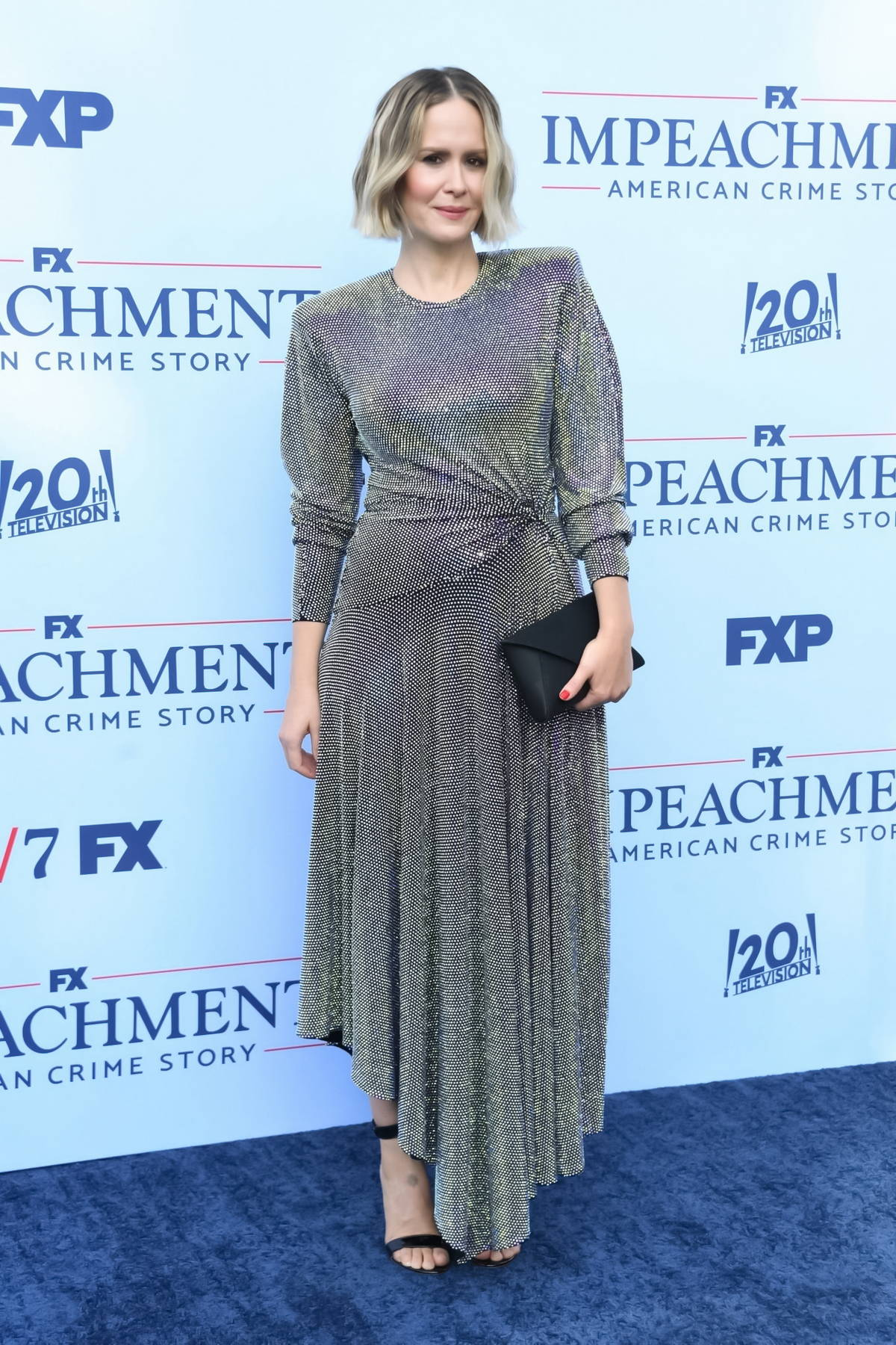 Sarah Paulson attends the Premiere of FX's 'Impeachment: American Crime Story' in West Hollywood, California