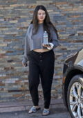 Selena Gomez flashes her midriff in a cropped sweatshirt as she grabs lunch at Catus Taqueria in Los Angeles