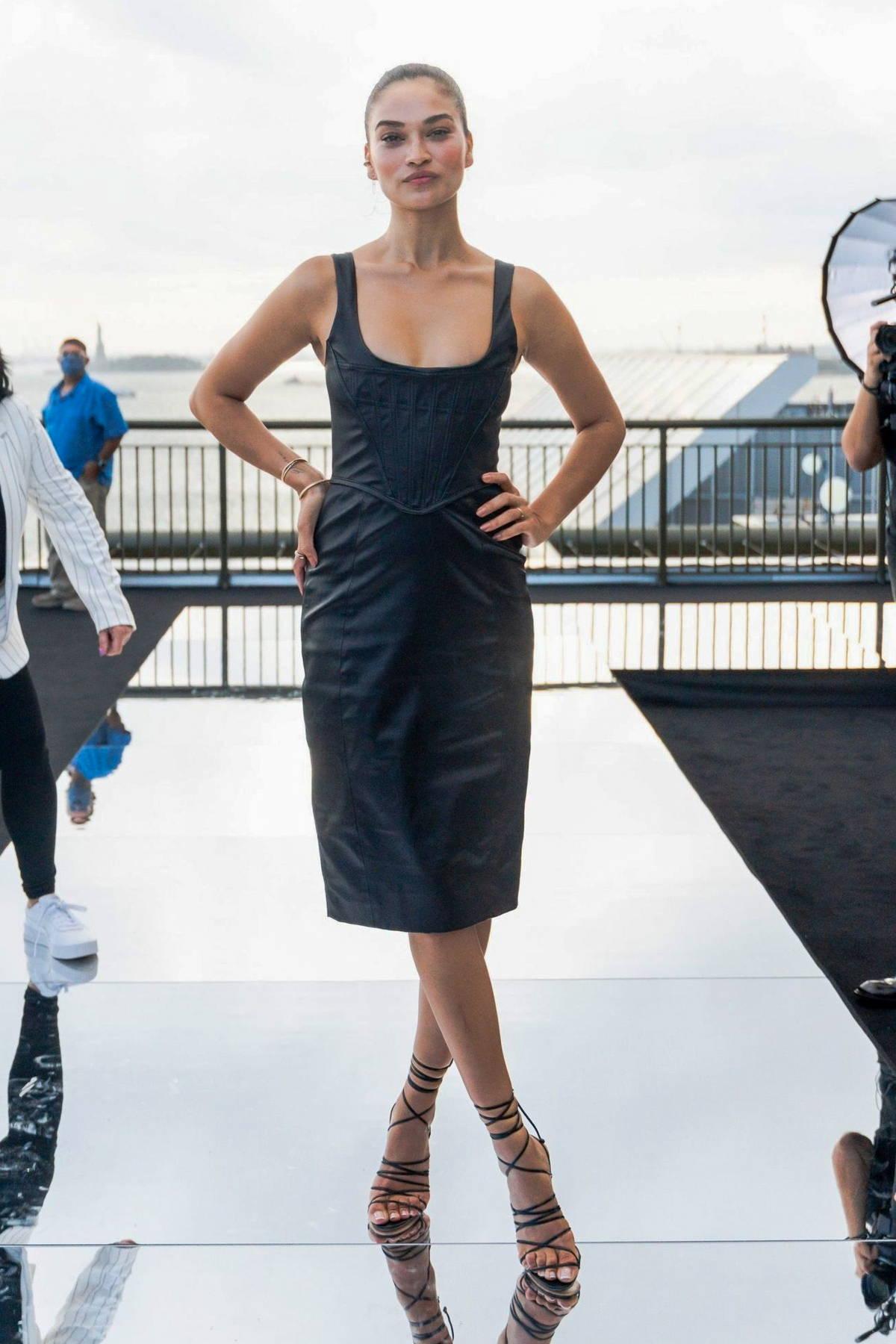 Shanina Shaik attends the Dundas x Revolve fashion show during New York Fashion Week in New York City