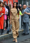 Shanina Shaik attends the Revolve Gallery inaugural event during New York Fashion Week at Hudson Yards in New York City