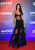 Sofia Resing attends the 2021 amfAR Gala during the 78th Venice International Film Festival in Venice, Italy