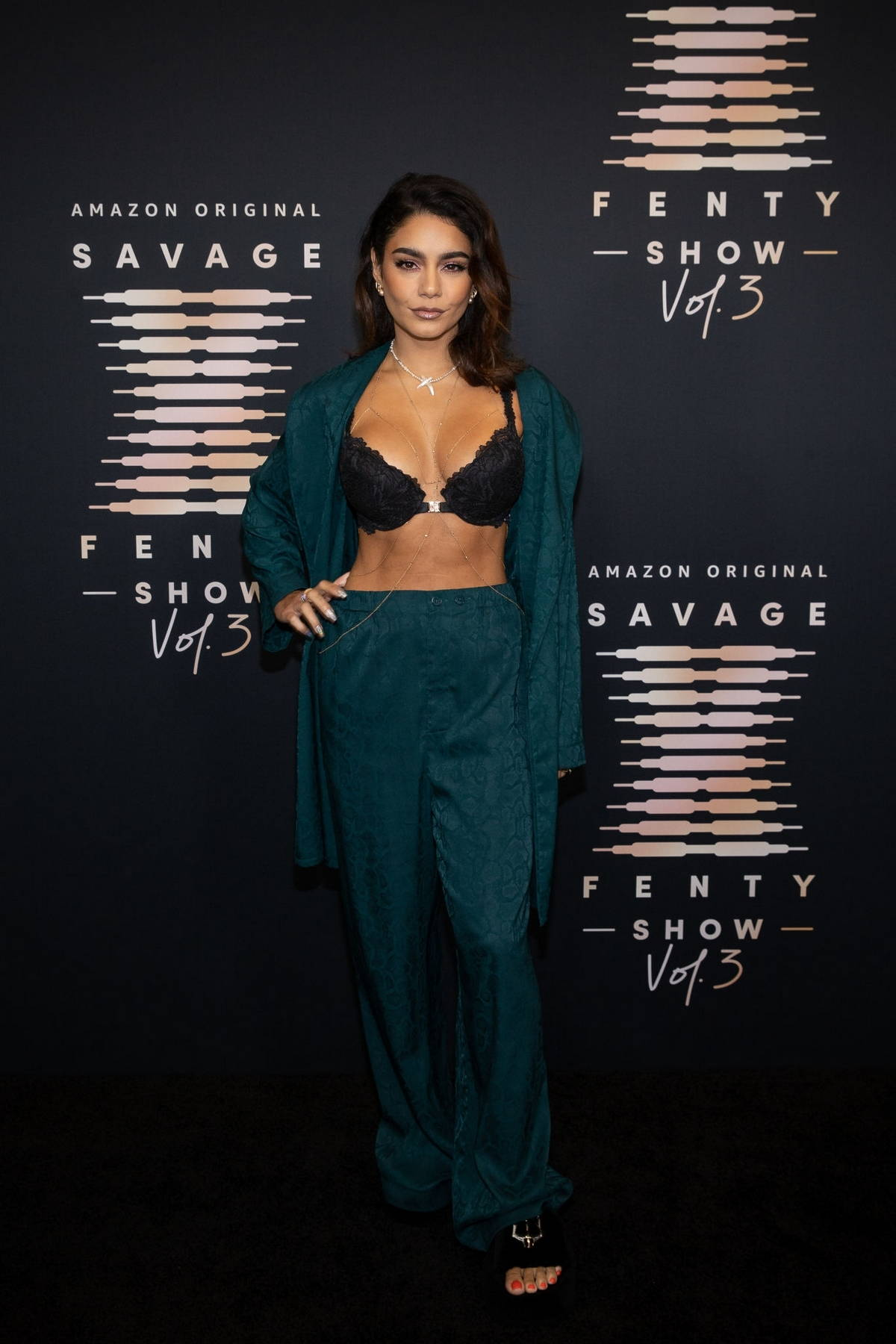 Vanessa Hudgens attends the Savage x Fenty Show Vol 3 in Los Angeles