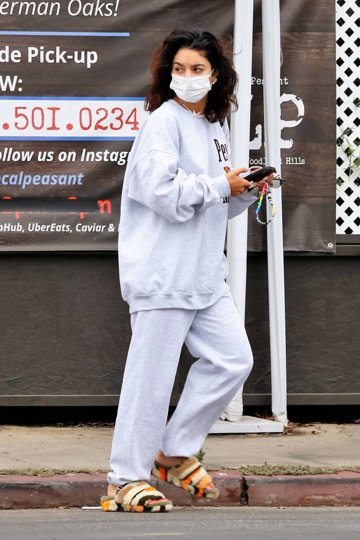 Vanessa Hudgens opts for a casual make-up free look as she steps out wearing sweats for a spa session in Los Angeles