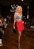 Victoria Silvstedt attends the AADNEVIK show during London Fashion Week at The Royal Horseguards in London, UK