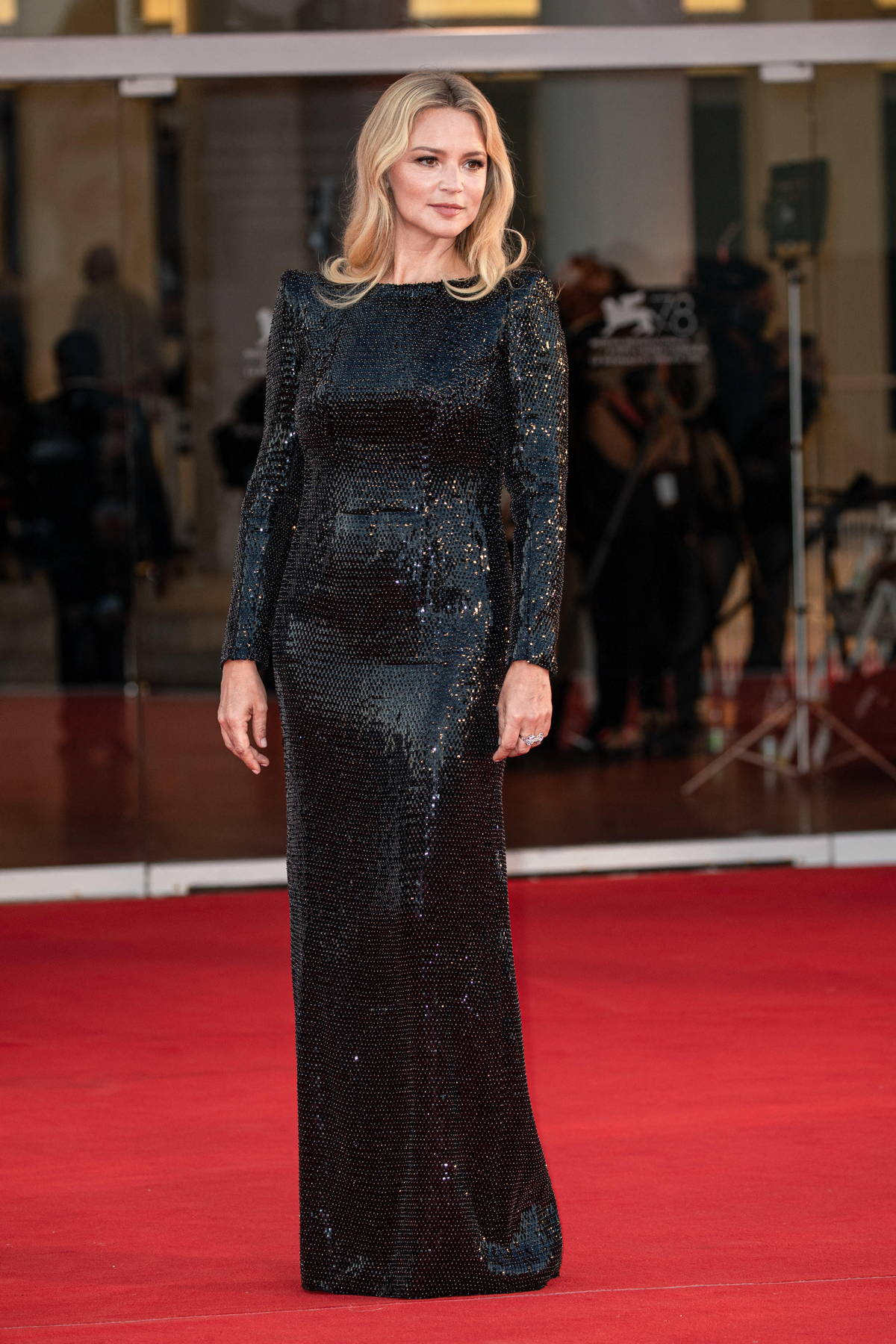 Virginie Efira attends the closing ceremony red carpet during the 78th Venice International Film Festival in Venice, Italy