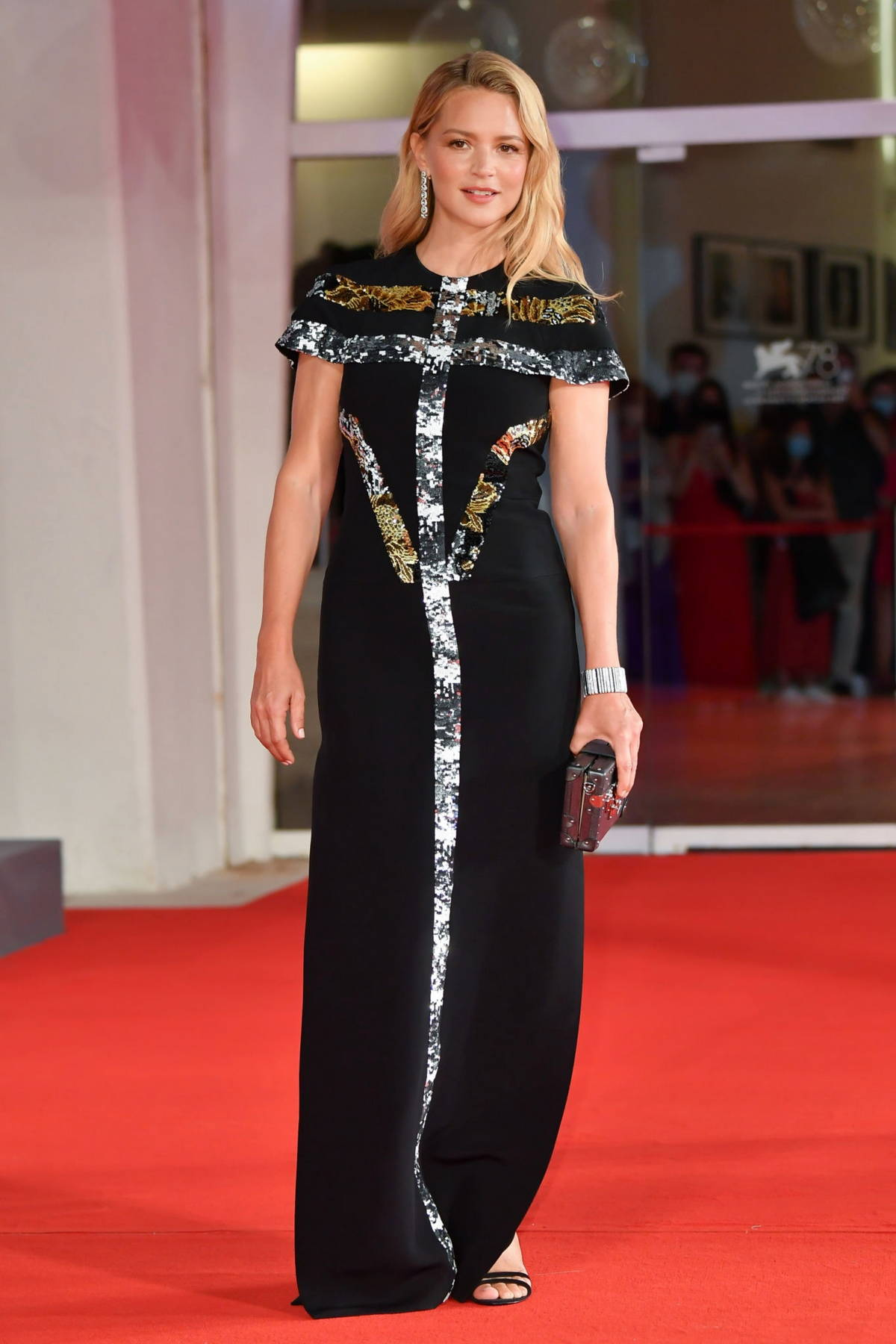 Virginie Efira attends the Premiere of 'Mona Lisa And The Blood Moon' during the 78th Venice International Film Festival in Venice, Italy
