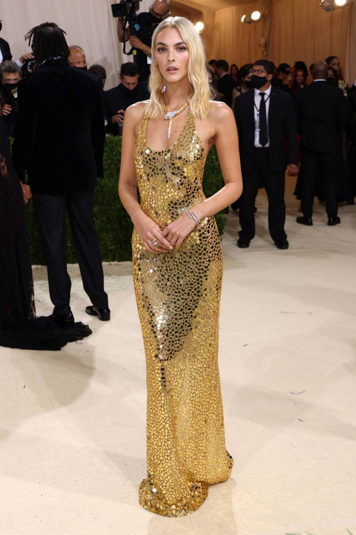Vittoria Ceretti attends The Met Gala Celebrating In America: A Lexicon Of Fashion at Metropolitan Museum of Art in New York City