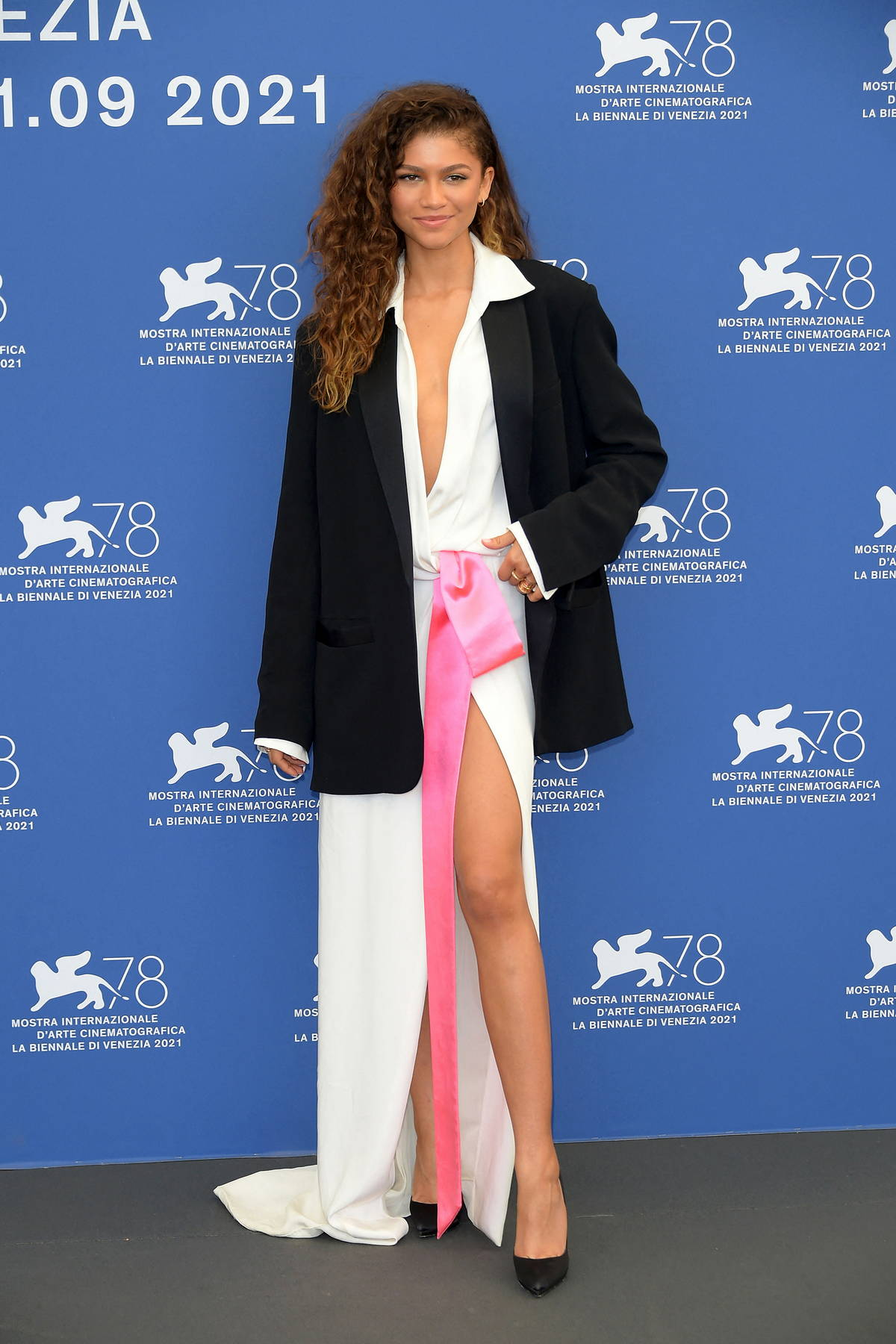 Zendaya attends the photocall of 'Dune' during the 78th Venice International Film Festival in Venice, Italy