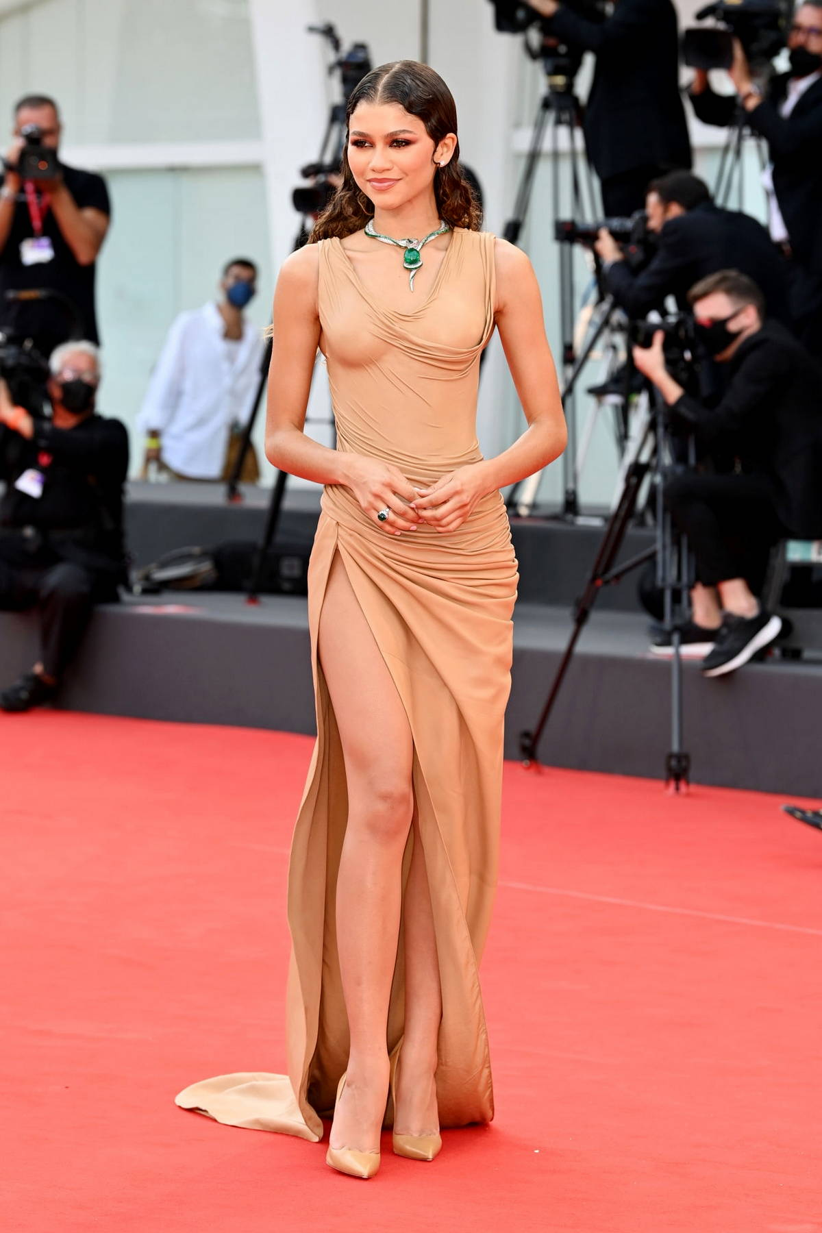Zendaya attends the Premiere of 'Dune' during the 78th Venice International Film Festival in Venice, Italy