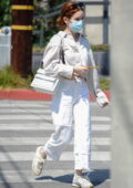 Zoey Deutch dons all-white while stepping out for coffee in Los Angeles