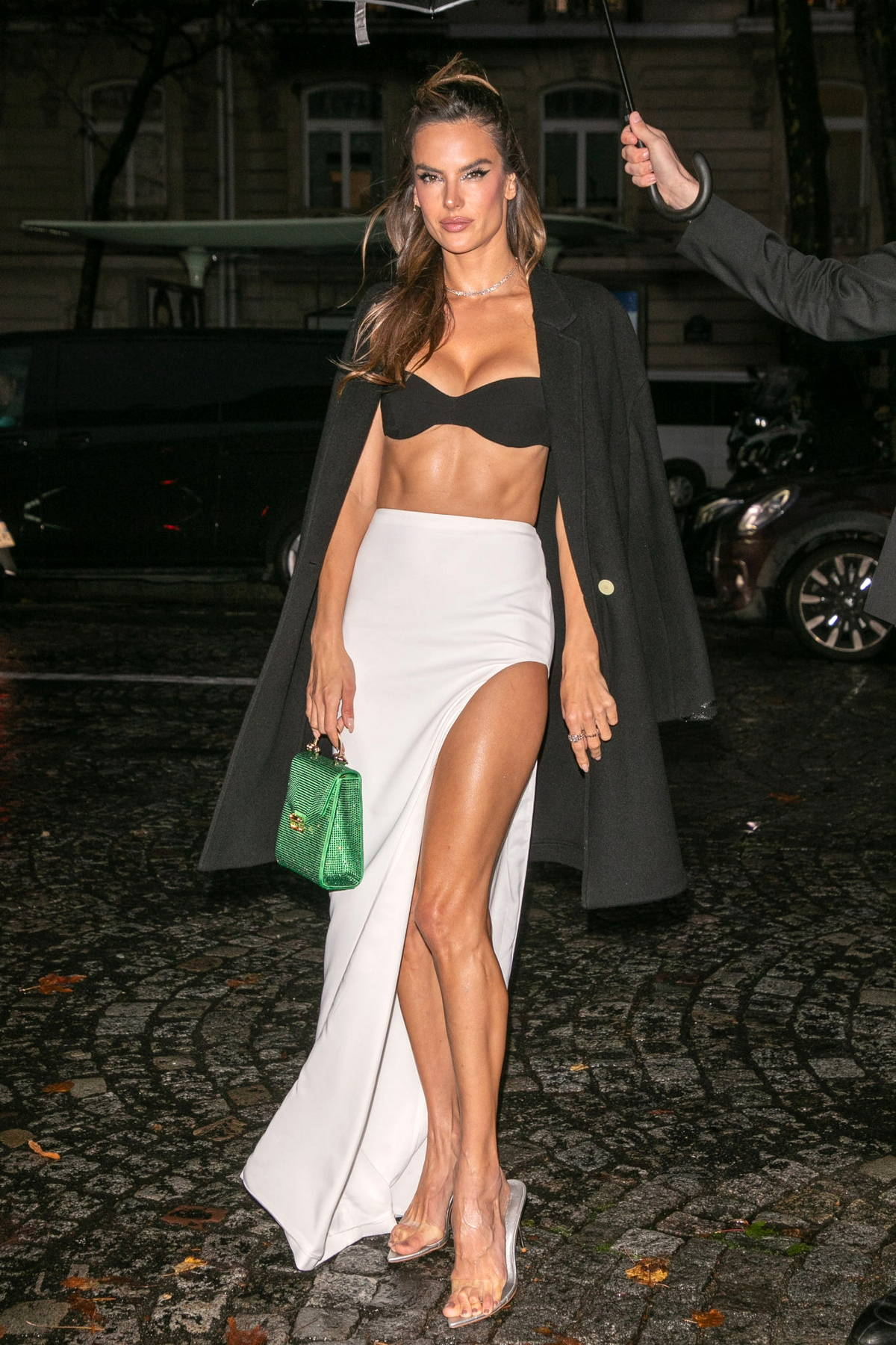 Alessandra Ambrosio attends the 'Vogue' Paris celebrating its 100th anniversary during Paris Fashion Week in Paris, France