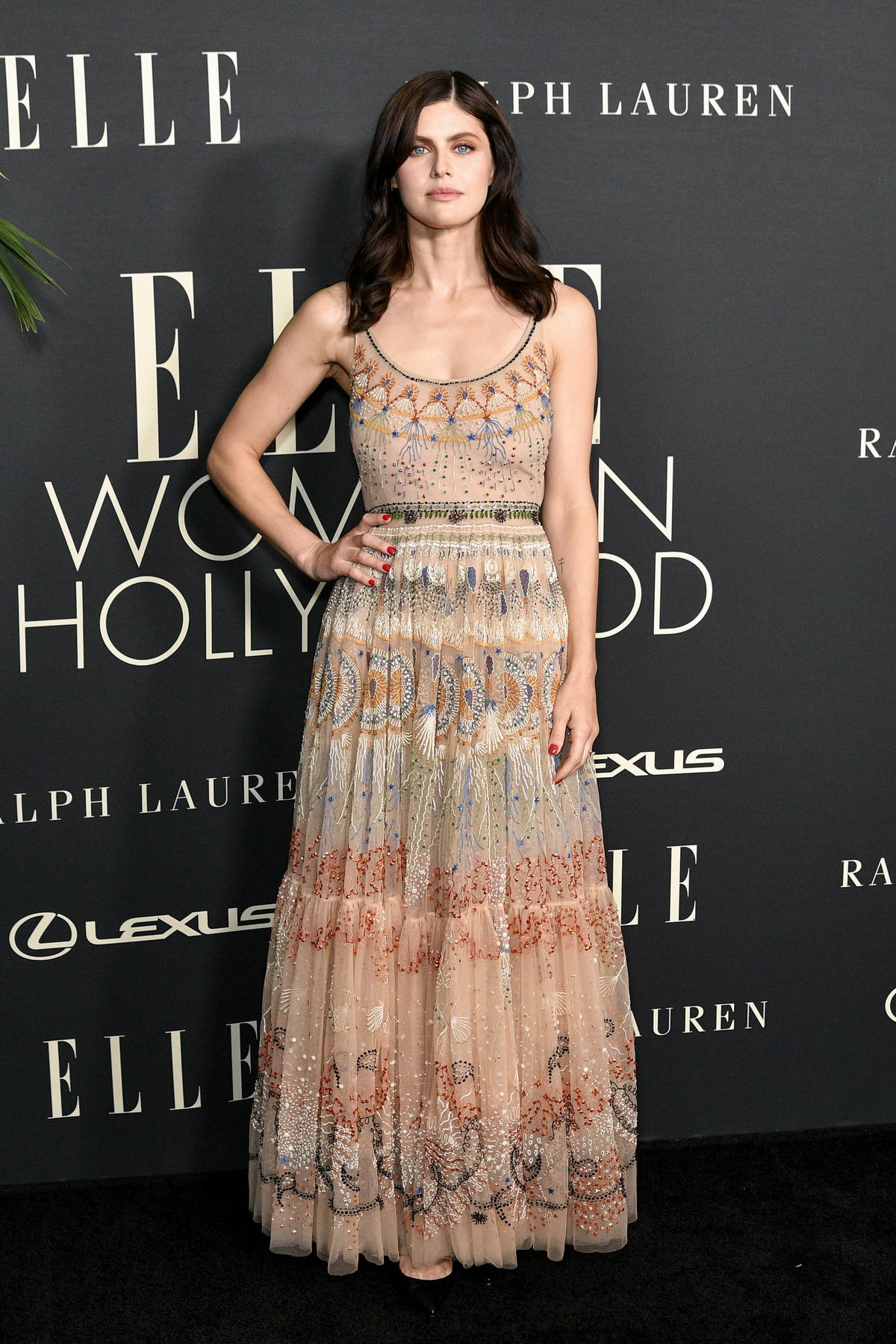 Alexandra Daddario attends ELLE's 27th Annual Women In Hollywood Celebration in Los Angeles