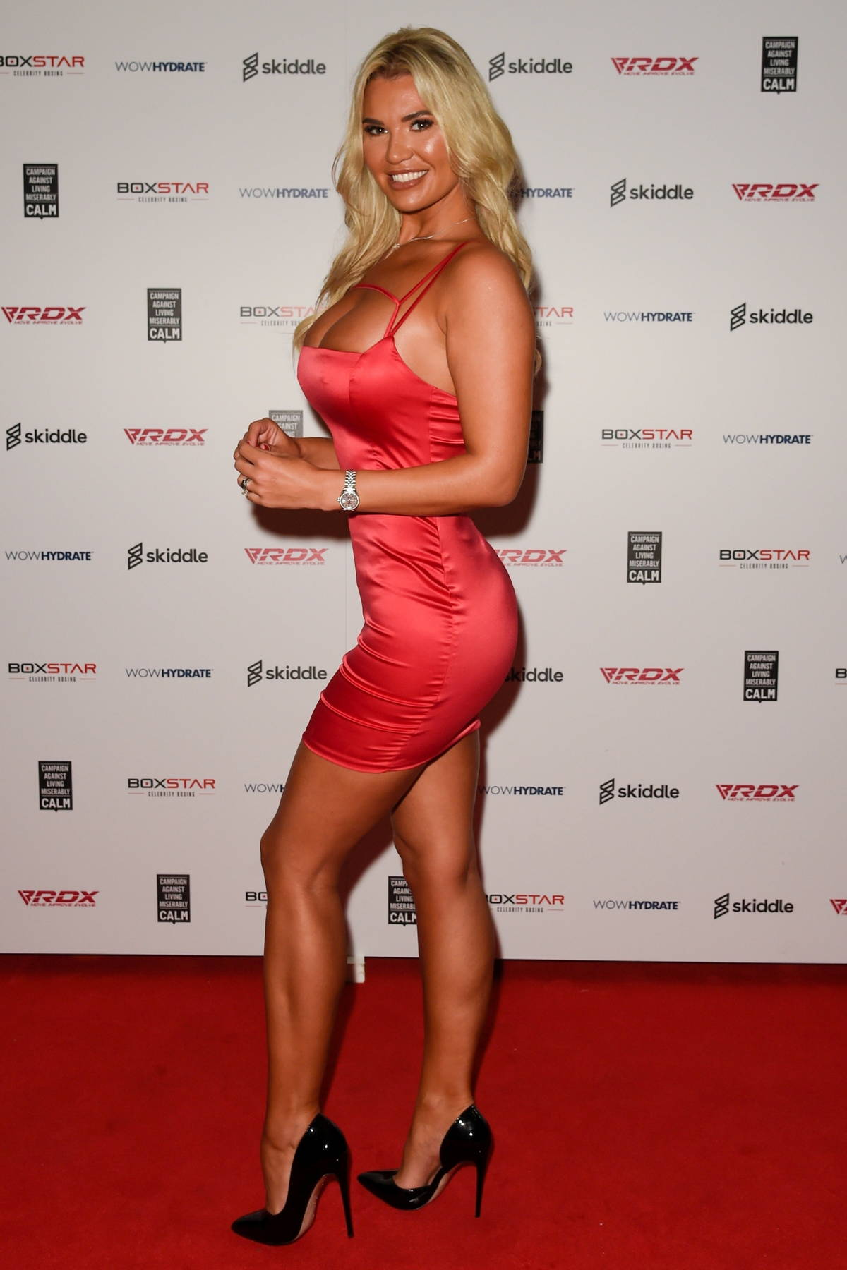 Christine McGuinness attends The Boxstar Celebrity Boxing Event at The 02 Arena in Manchester, UK