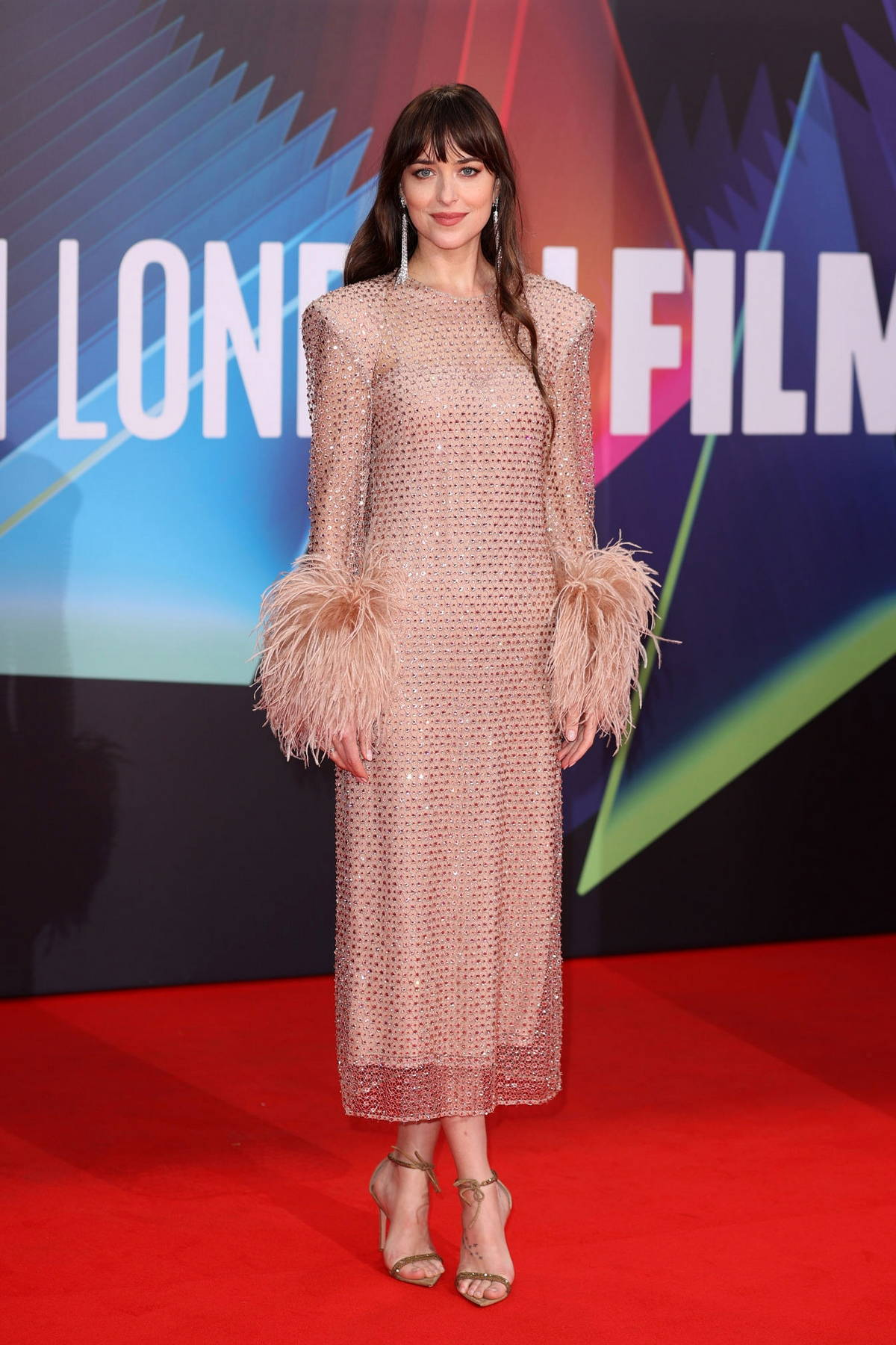 Dakota Johnson attends the Premiere of 'The Lost Daughter' during the 65th BFI London Film Festival in London, UK