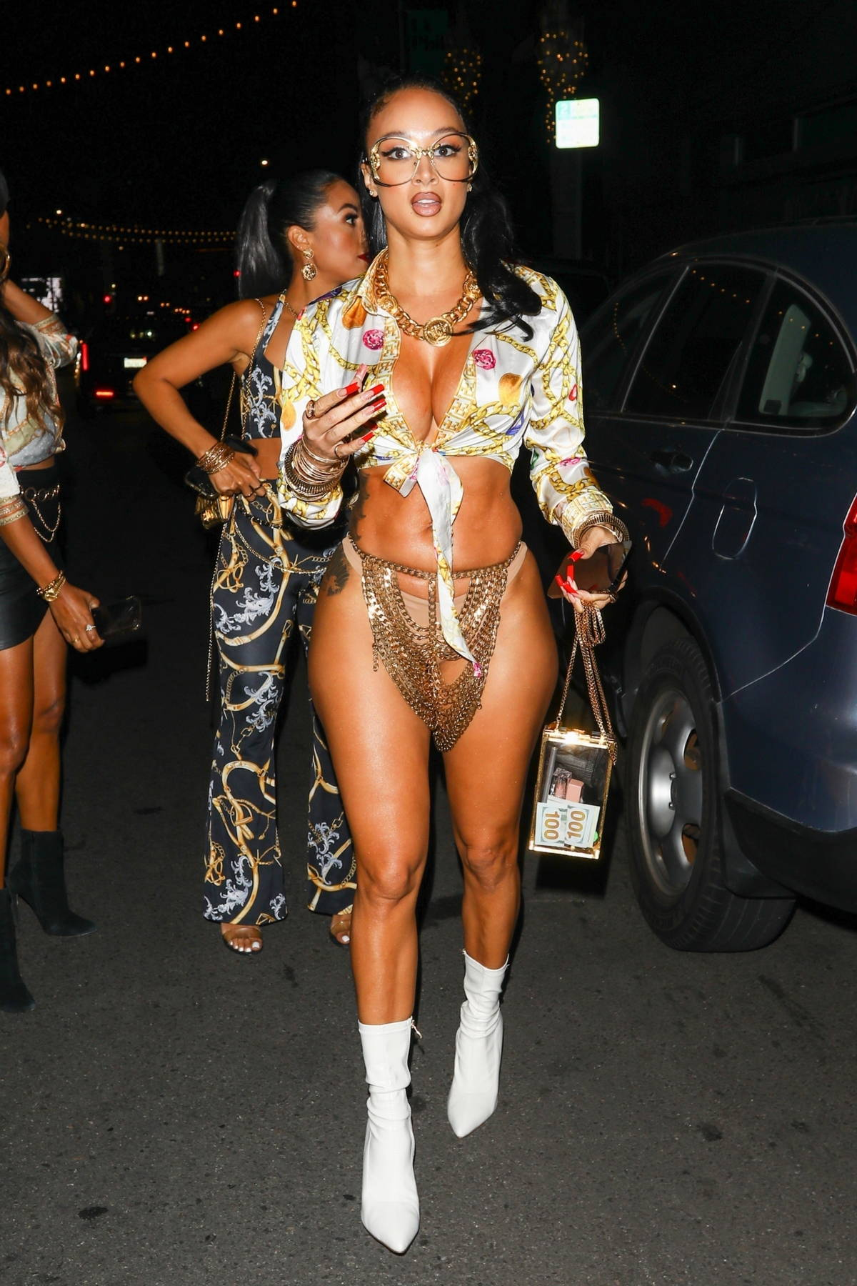 Draya Michele puts curves on display while attending at Drake's birthday party at Goya Studios in Los Angeles