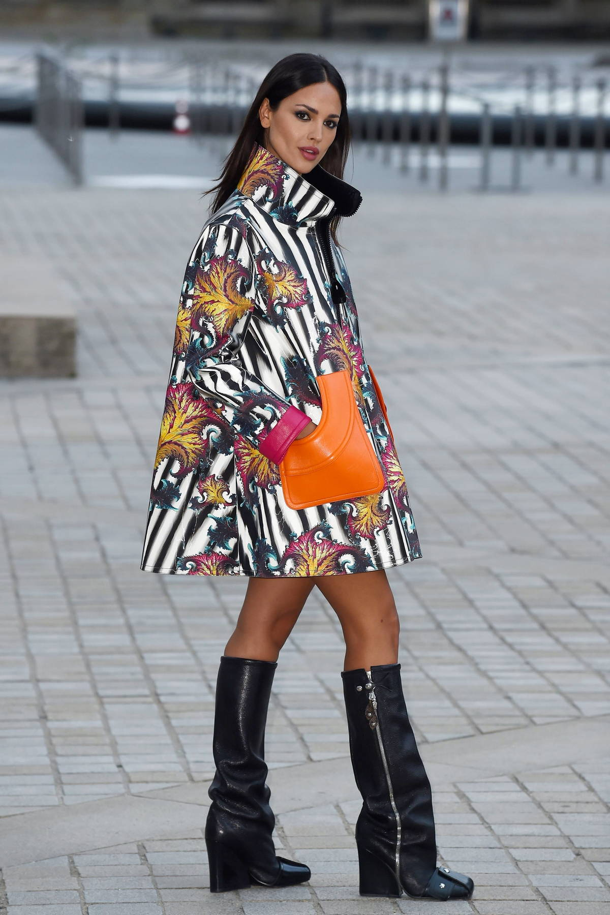 Eiza Gonzalez attends the Louis Vuitton SS22 show during Paris Fashion Week in Paris, France
