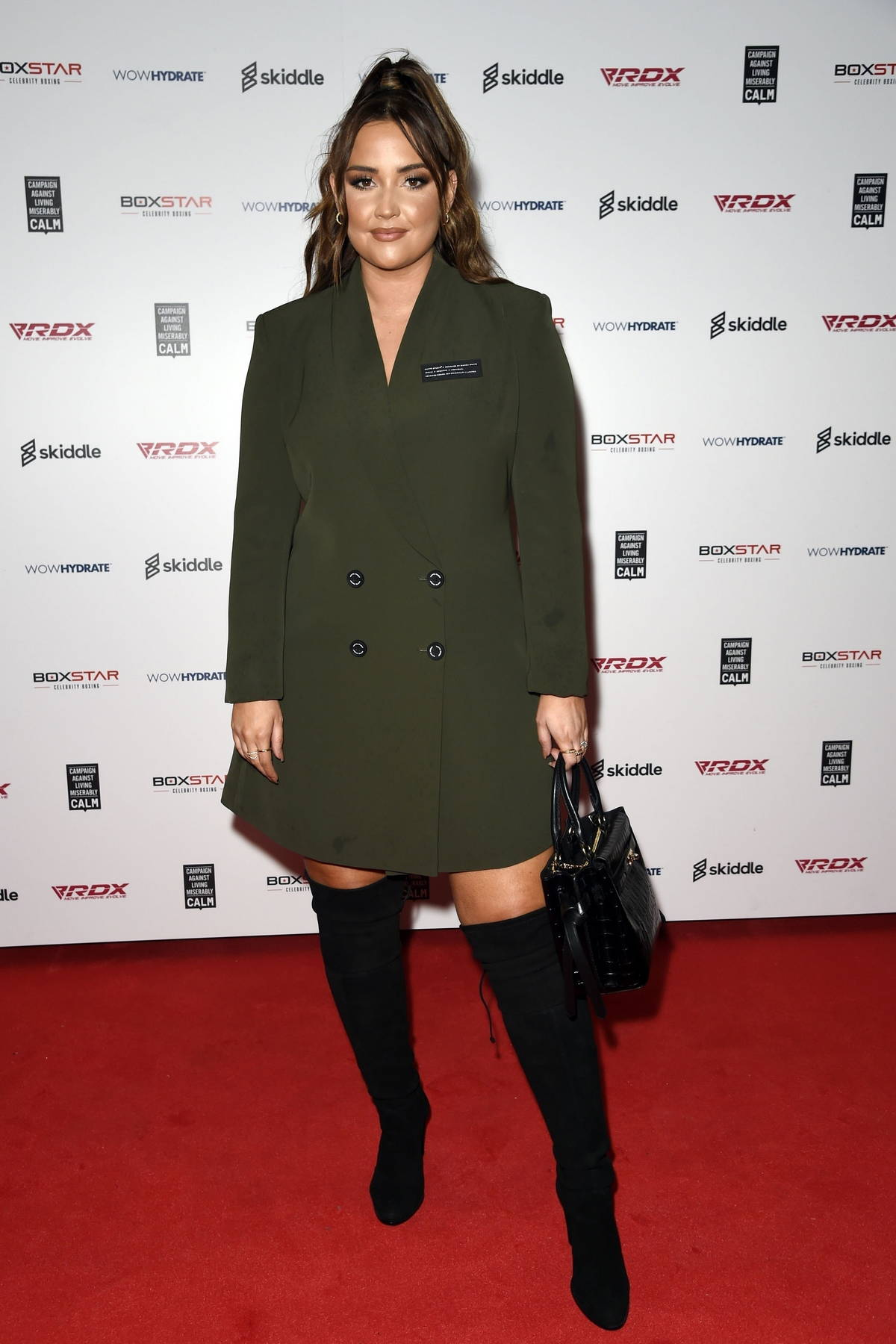 Jacqueline Jossa attends The Boxstar Celebrity Boxing Event at The 02 Arena in Manchester, UK