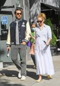 Jennifer Lawrence wears comfortable clothing while out for lunch with Derek Blasberg in New York City