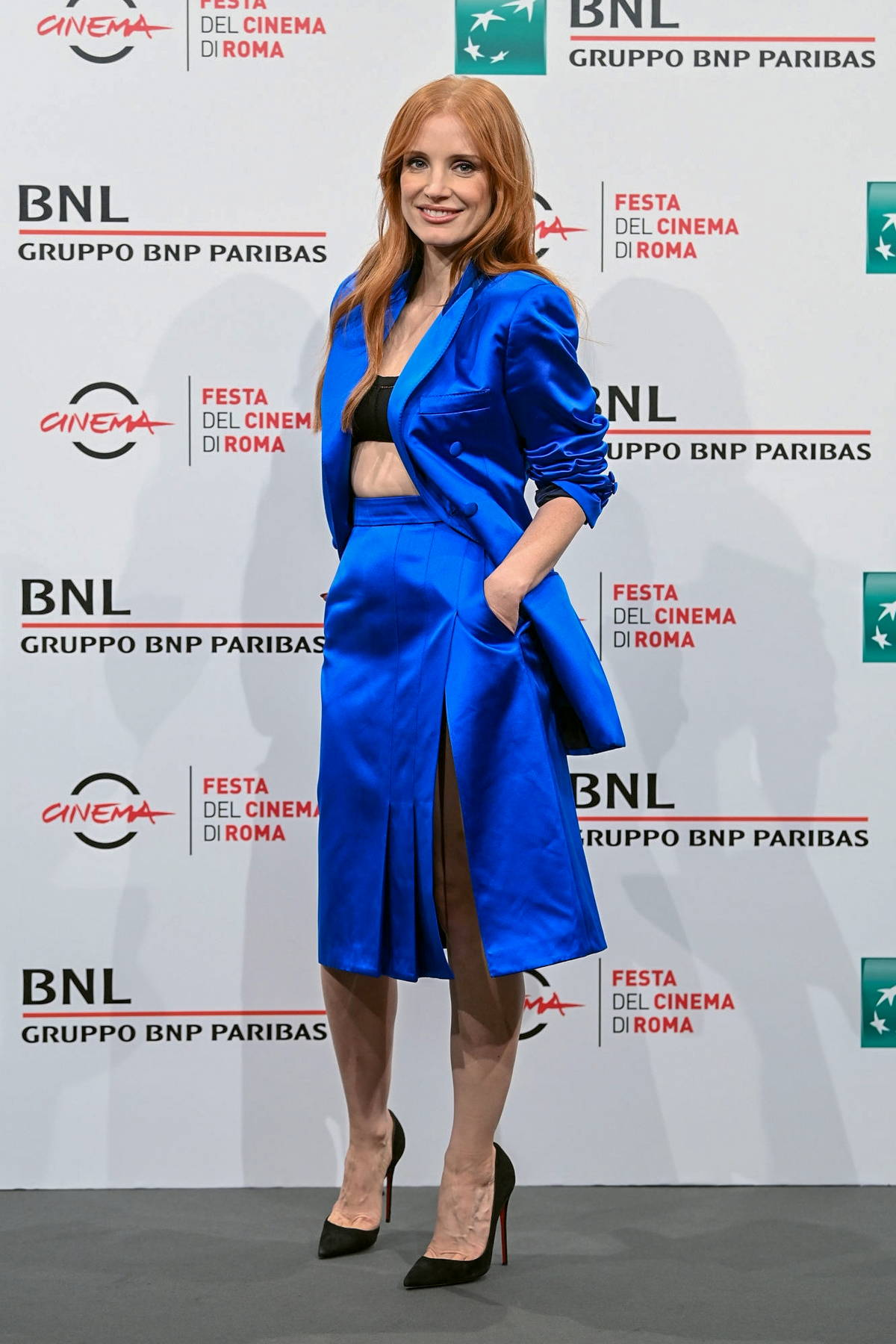 Jessica Chastain attends the photocall for 'The Eyes Of Tammie Fay' during the 16th Rome Film Fest in Rome, Italy
