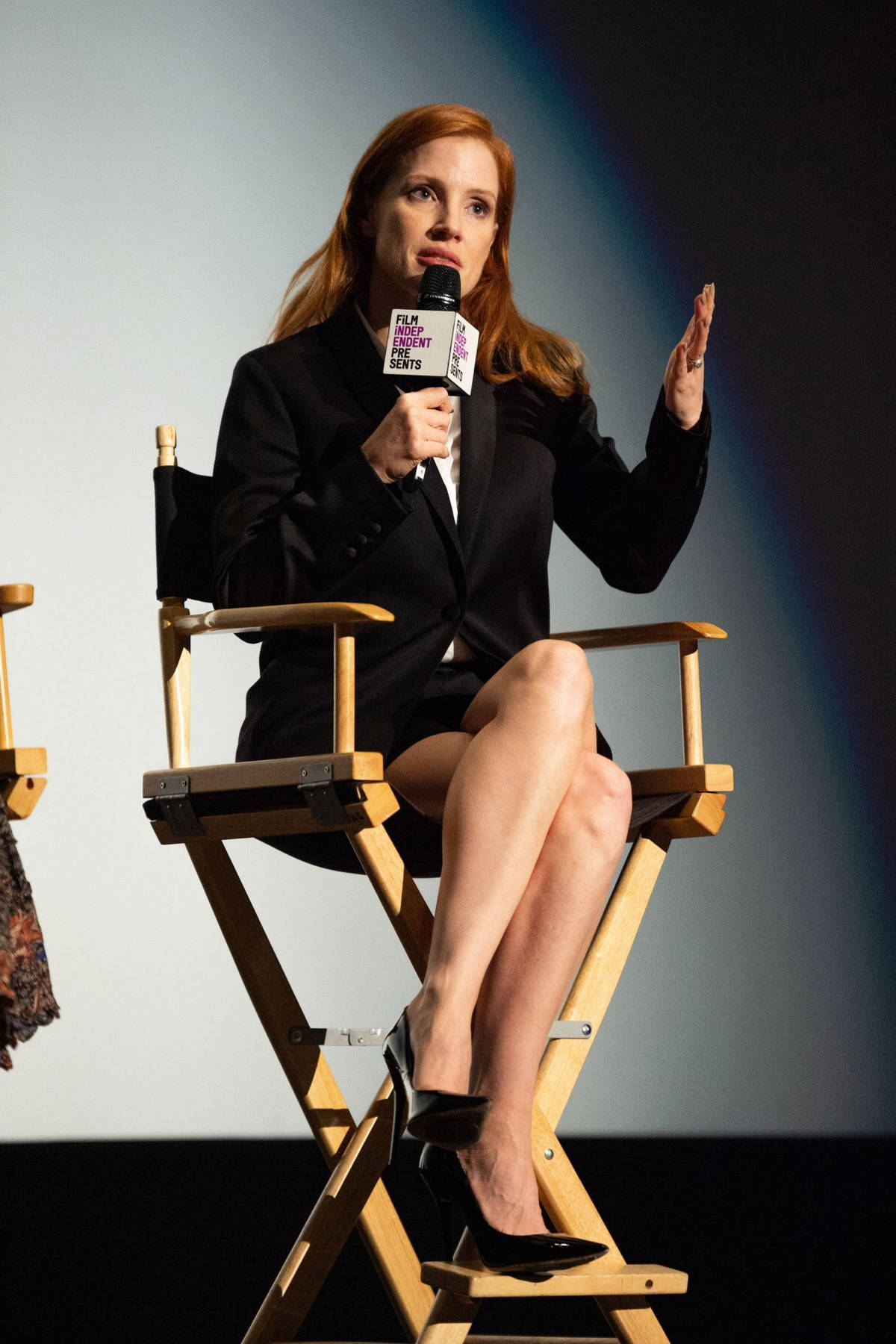Jessica Chastain speaks during the Film Independent screening of 'Scenes From A Marriage' in Los Angeles