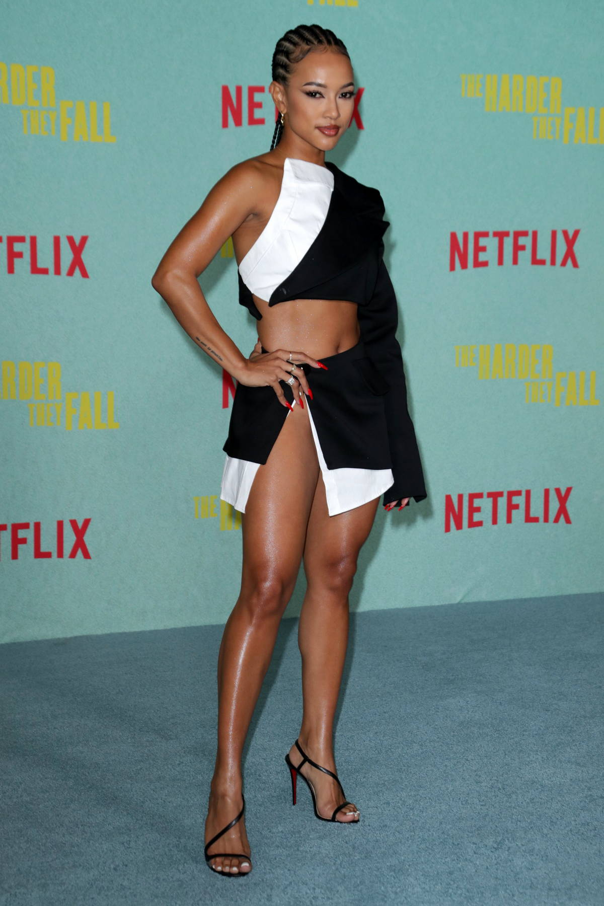 Karrueche Tran attends a special screening of 'The Harder They Fall' at The Shrine in Los Angeles