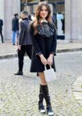 Katherine Langford attends the Miu Miu Womenswear SS22 show during Paris Fashion Week in Paris, France