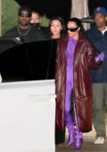 Kim Kardashian and Kanye West get together for dinner with friends at Nobu in Malibu, California